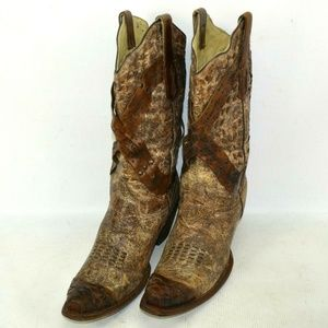 Corral Vintage Leather Western Boots Womens 10 M
